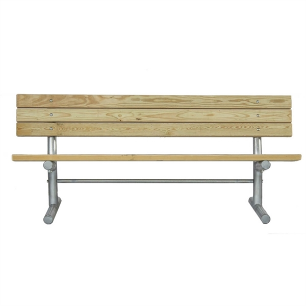 6 Ft. Wooden Bench with Galvanized Steel Frame