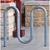 Picture of Bike Rack 5 Space Loop 39 In. Galvanized 1 5/8 In. Pipe, In-Ground Mount
