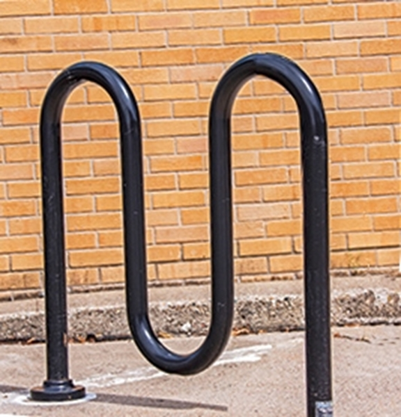 Picture of Bike Rack 5 Space Loop 39 In. Powder Coated1 5/8 In. Pipe, In-Ground Mount