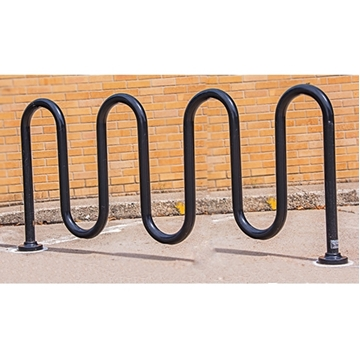 Picture of Bike Rack 9 Space Loop  88 In. Powder Coated 1 5/8 In. Pipe,Surface Mount