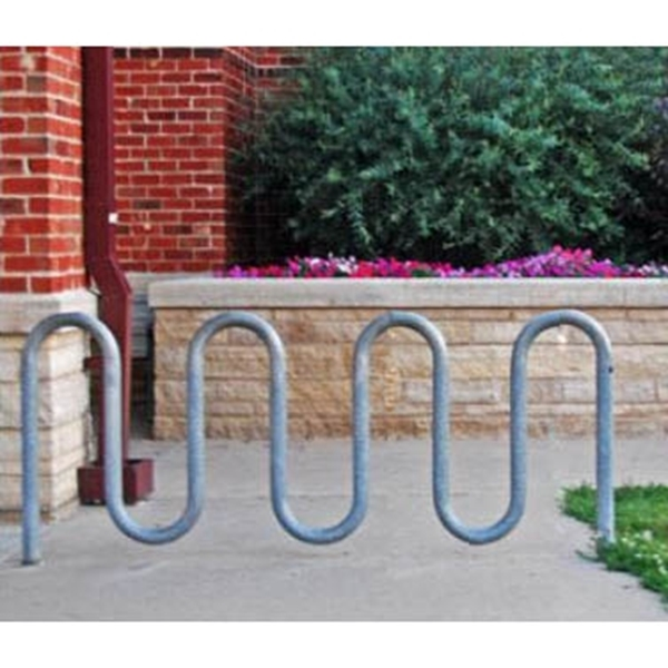 Picture of Bike Rack 9 Space Loop 88 In. Galvanized 1 5/8 In. Pipe,Surface Mount