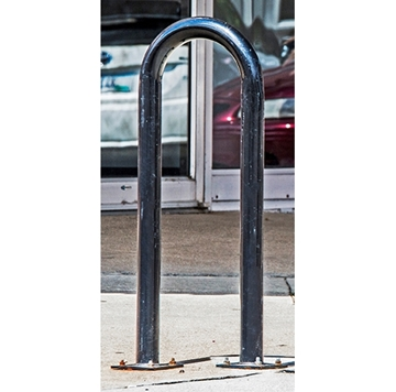 Picture of Bike Rack 3 Space 1 Loop Bike Rack 15 In. Powder Coated 2 3/8 In. Pipe, In-ground Mount