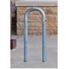 3 Space Loop Bike Rack 15 In. Galvanized 2 3/8 In. Pipe