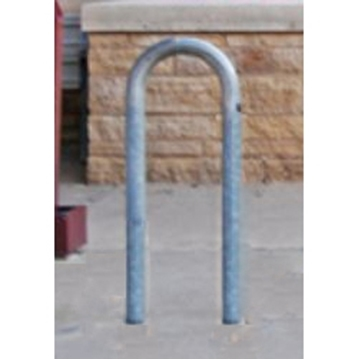 3 Space Loop Bike Rack 15 In. Galvanized 2 3/8 In. Pipe