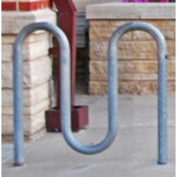 Bike Rack 5 Space Loop Bike Rack 39 In. Galvanized 2 3/8 In. Pipe