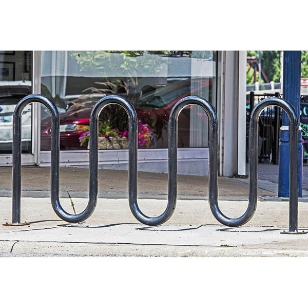 Bike Rack 9 Space 7 Loop Bike Rack 88 In. Powder Coated 2 3/8 In. Pipe