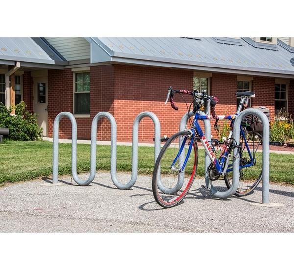 Bike Rack 11 Space 9 Loop Bike Rack 113 In. Galvanized 2 3/8 In. Pipe