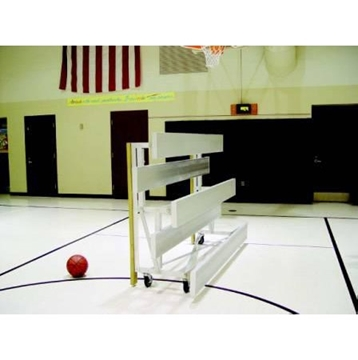 Bleachers Tip and Roll 3 Row 15 Ft. Aluminum with Galvanized Steel Frame,