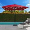 10 ft. Square Premium Center Post Umbrella with Marine Grade Fabric and Aluminum Frame