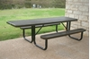 8 Ft. RHINO ADA Accessible Rectangular Thermoplastic Picnic Table with Portable Frame