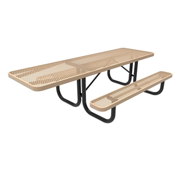 Picture of 8 Ft. RHINO ADA Accessible Rectangular Thermoplastic Picnic Table with Portable Frame, 231 lbs.