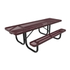 8 Ft. RHINO ADA Accessible Thermoplastic Dual Access Picnic Table with Portable Frame
