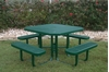"46"" RHINO Square Thermoplastic Picnic Table with Portable Frame"