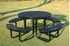 "Picture of 46"" RHINO Round Thermoplastic Picnic Table with Portable Frame, 244 lbs."