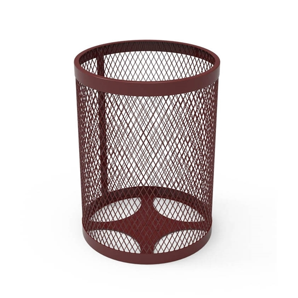 Picture of RHINO Trash Receptacle, Thermoplastic Expanded Metal, Portable, 70 lbs.