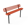 RHINO 6 Ft. Bench with Back, Thermoplastic Expanded Metal