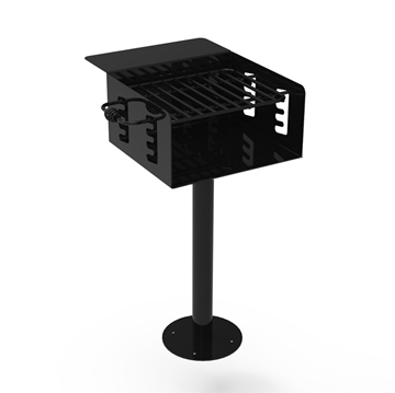 Park Grill 360 Square In. Welded Steel with 2 3/8 In. Pedestal