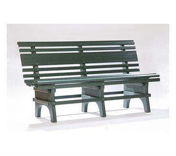Park Bench St. Pete 4 or 5 ft. Recycled Plastic in Turf Green