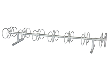 10 Ft. 14 Space Circle Bike Rack  - Galvanized