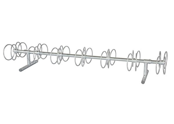 10 Ft. 14 Space Circle Bike Rack  - Galvanized