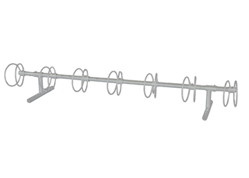 7 Space Circle 10 Ft. Bike Rack - Galvanized