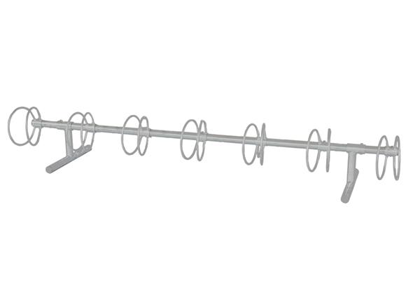 7 Space Circle 10 Ft. Bike Rack - Galvanized