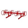 8 Space 5 Ft. Circle Bike Rack - Red