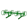 8 Space 5 Ft. Circle Bike Rack - Forest Green