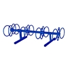 8 Space 5 Ft. Circle Bike Rack - Royal Blue