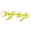 8 Space 5 Ft. Circle Bike Rack - Yellow