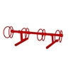 4 Space 5 Ft. Circle Bike Rack - Red