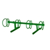 4 Space 5 Ft. Circle Bike Rack - Forest Green
