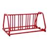 8 Space 5 Ft. Bike Rack A Style Frame Bike Rack - Red