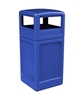 42 Gallon Square Receptacle with Dome Top - Blue