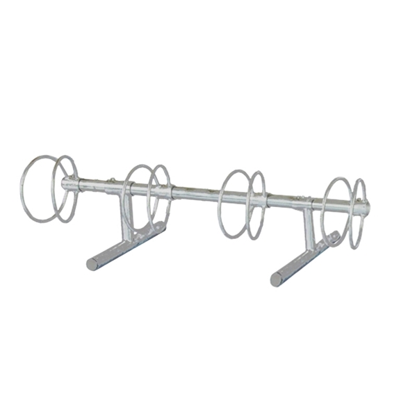 4 Space 5 Ft. Circle Bike Rack - Galvanized