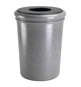 50 Gallon Polymer Concrete Trash Can - Ashtone