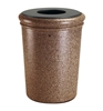50 Gallon Polymer Concrete Trash Can - Sedona