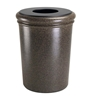 50 Gallon Polymer Concrete Trash Can - Aspen