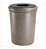 50 Gallon Polymer Concrete Trash Can - Riverstone