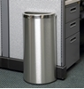 8 Gallon Stainless Steel Trash Can, Portable, 11 lbs