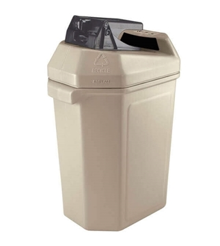 Can Recycling Receptacle with Can Crusher 30 Gallon Plastic, Portable Lbs.