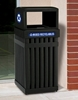 Picture of Steel Recycling / Trash Can, 25 Gallons, Portable 55 lbs.