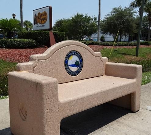 7 Ft Memorial Concrete Bench Concrete With Custom Logo Option 1500 Lbs