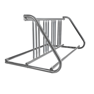 8 Space 5 Ft. W Style Bike Rack - Galvanized