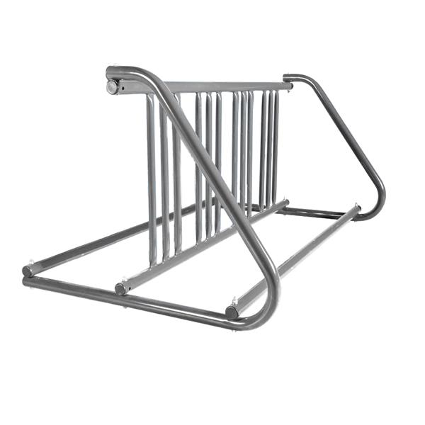 8 Space 5 Ft. W Style Bike Rack - Galvanized
