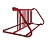 8 Space 5 Ft. W Style Bike Rack - Red