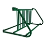 8 Space 5 Ft. W Style Bike Rack - Forest Green