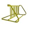 8 Space 5 Ft. W Style Bike Rack - Yellow