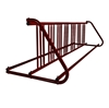 14 Space 8 Ft. W Style Grid Bike Rack - Burgundy