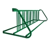14 Space 8 Ft. W Style Grid Bike Rack - Forest Green